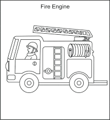 Firetruck Coloring Page Free Printable Fire Truck With 2 Person
