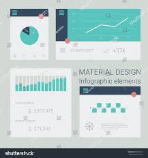 Material Design Timeline Collection Material Design Infographics Elements Pie Stock