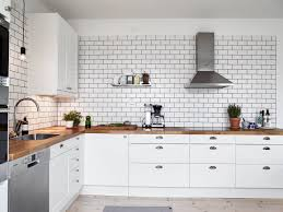 Image Tile Backsplash White Tiles Black Grout Kind Of Kitchen Via Cocolapinedesigncom Pinterest White Tiles Black Grout Kind Of Kitchen Scandinavian Style