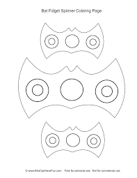 Fidget Spinner Coloring Page Moonoon