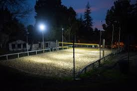 introduction portable lighting system for beach volleyball