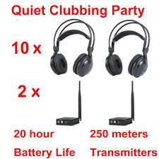online get cheap wireless headphone silent disco com most professional silent disco compete system