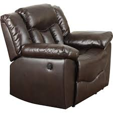 undefined brown bonded leather recliner