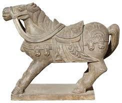 chinese warrior garden statue tong style handcrafted stone carved warrior horse statue 2 garden chinese terracotta