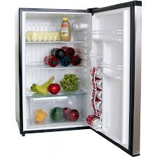 refrigerator 4 5 cu ft. bull bbq 4 5 cu ft capacity stainless steel compact refrigerator with locking door 11001 open