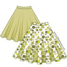 Skirt Pattern New Classic Full Circle Skirt For Little Girl Printable Pattern