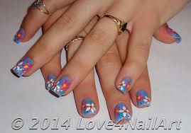 Girly Nail Designs For Short Nails Love4nailart Super Simple And Girly Flowery Short Nails
