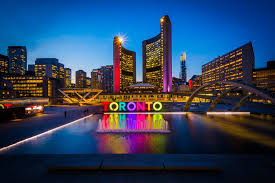 Small Picture Nathan Phillips Square Toronto Sign Photo Print on Metal