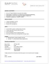 Sap Abap Sample Resume 3 Years Experience Sap Abap Sample Resume 3