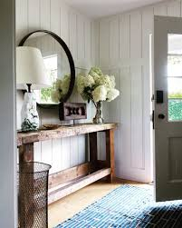 entryway tables and consoles. Room · Gorgeous Entryway With A Round Mirror Above Console Table. Tables And Consoles