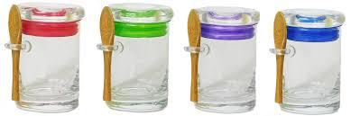 4 pack 3oz 90ml glass jar glass lid assortment