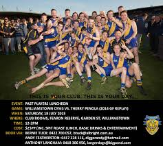 Williamstown CYMS Past Players Day, Saturday July 18