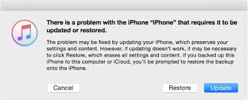 itunes recovery mode update