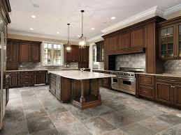 kitchen tile flooring dark cabinets. Choose The Appropriate Floor Ceramic Tile Designs Ideas For Kitchen: Earthy Tone Cabinets Plus Custom Kitchen Flooring Dark N