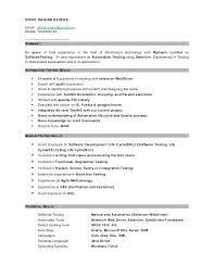 Experienced Resume Formats One Year Experience Format Java Doc