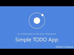 simple todo ionic framework tutorial simple todo app youtube