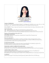 Resume Example For Fresh Graduate Nurse 100 Original