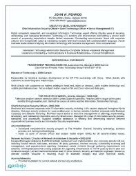 Extended Resume Template It Security Resume Template