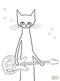 Small Picture Pete the Cat coloring page Free Printable Coloring Pages