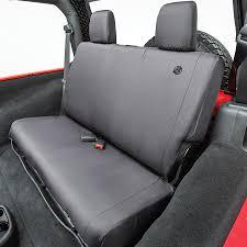 bestop rear seat covers wrangler jk 2 door 2007 2017 black bes 2928235