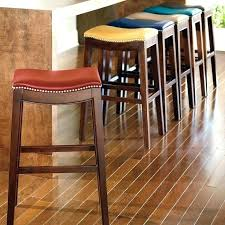 backless leather bar stools abazaxyz leather backless bar stools with nailheads