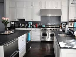 black marble countertops white cabinets