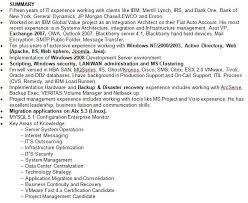 resume summary statement examples berathencom example of summary in resume