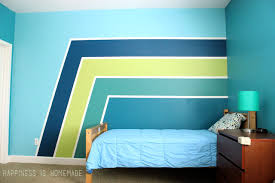 painted wallsBoys Bedroom Graphic Racing Stripes Painted Accent Wall