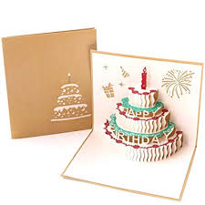 Amazoncom Paper Spiritz Pop Up Birthday Cake Cards Mothers Day