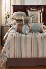 kathy ireland home by hallmart society stripe comforter set design with unique bedside table and glass