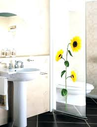 sunflower bathroom set decor for home vinyl wall stickers rug accessories