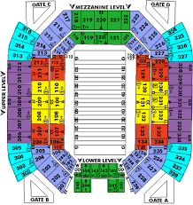 Capital One Seating Chart Seating Chart For The Capital One Bowl Game