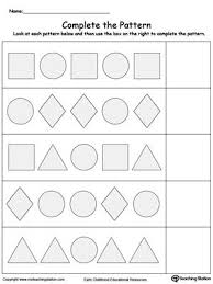 Patterns For Preschool Fascinating Early Childhood Math Worksheets Math Activities Pinterest
