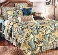 western bedding full queen size desert paisley quilt lone star western decor