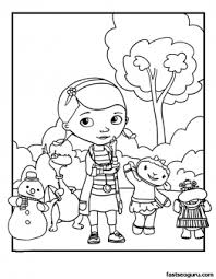 Printable Doc Mcstuffins Coloring Pages Printable Coloring Pages