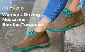Twisted X Width Chart Twisted X Driving Loafers Womens Driving Mocs Bomber Turquoise