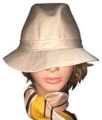 Burberry Made in England Men\u0027s/Women\u0027s Hat Fedora Khaki Size 7 Beige In