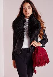 gallery women s collarless leather jackets