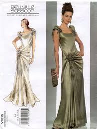 Designer Evening Gown Patterns Vogue 1015 Designer Original By Belleville Sassoon Sewing
