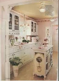 vine shabby chic pink kitchen