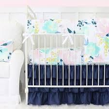 crib bedding for girls islau0027s fresh fl navy ruffle crib bedding wnhprjj