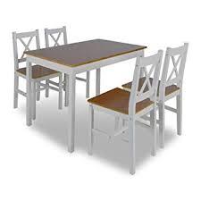 Vidaxl Ensemble Table Bois 4 Chaises Couleur Marron Salle à Manger Cuisine