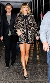 Small Picture Taylor Swift Reveals Her Wild Side In A Very Leggy Look For