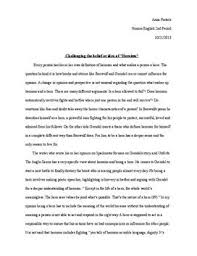 sample essay about grendel essay grendel vs beowulf essay introduction hearinganddizzy ca