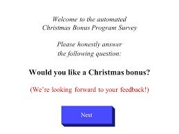 Christmas Program Theme Welcome To The Automated Christmas Bonus Program Survey