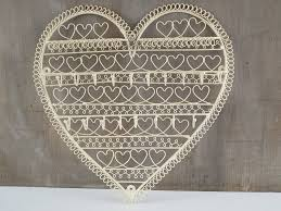 Jewelry Holder Wall Cream Heart Shaped Wire Wall Mounted Jewellery Holder Amazonco