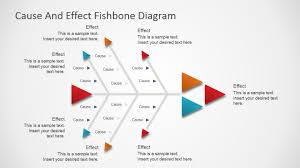 Fishbone Cause And Effect Chart Flat Fishbone Diagram For Powerpoint