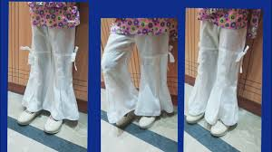 Bell Bottom Pajama Design Bell Bottom Box Plated Trouser Design Cutting And Stitching