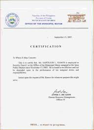 Employment Certificate Template Experience Print Of Certimus Example
