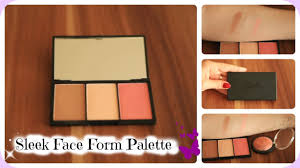 sleek makeup face form contour blush palette review live swatches